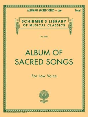 Album Of Sacred Songs. Voix Grave Partition Mélodies - laflutedepan