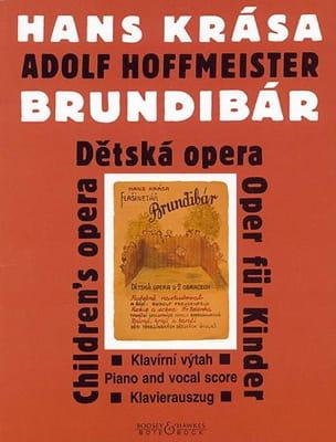 Brundibár 1938/43 Hans Krasa Partition Pour enfants - laflutedepan