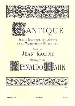 Cantique Reynaldo Hahn Partition Mélodies - laflutedepan