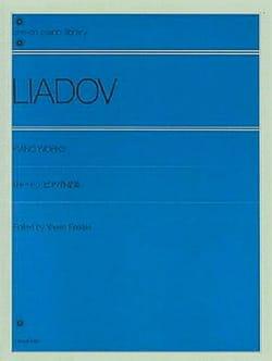 Oeuvres Pour Piano Anatoly Liadov Partition Piano - laflutedepan