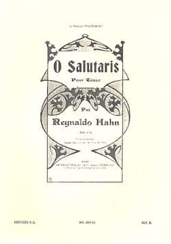 O Salutaris Reynaldo Hahn Partition Mélodies - laflutedepan