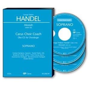 Messiah Hwv 56 3 CD Basse CHOEUR HAENDEL Partition laflutedepan
