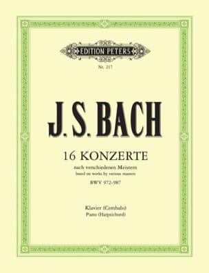 16 Concertos D'après Vivaldi, Marcello ... BACH Partition laflutedepan