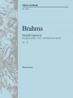 Begräbnisgesang Opus 13 BRAHMS Partition Chœur - laflutedepan