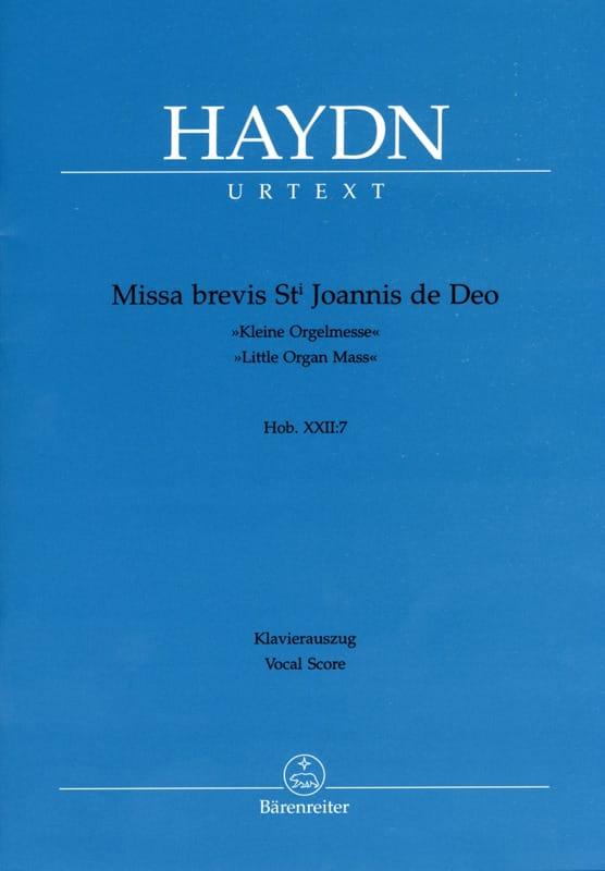 Missa Brevis Sancti Joannis de Deo. Hob 22-7 - laflutedepan.com