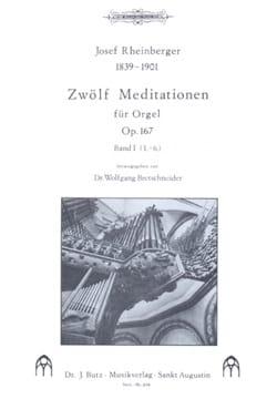 12 Meditationen Op. 167 Volume 1 RHEINBERGER Partition laflutedepan