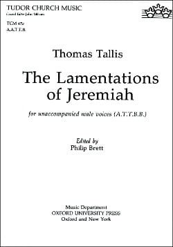The Lamentations Of Jeremiah Thomas Tallis Partition laflutedepan