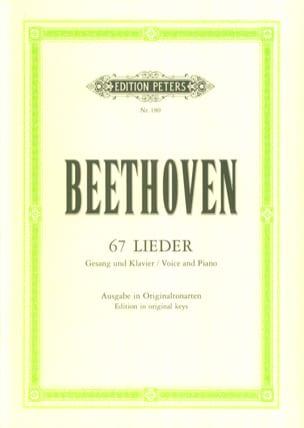 67 Lieder BEETHOVEN Partition Mélodies - laflutedepan