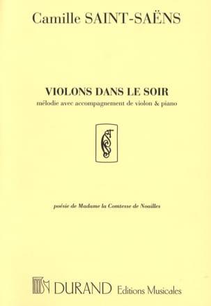 Violons Dans le Soir SAINT-SAËNS Partition Violon - laflutedepan