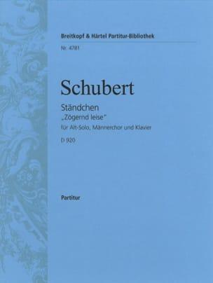 Ständchen Opus 135 D 920 SCHUBERT Partition Chœur - laflutedepan