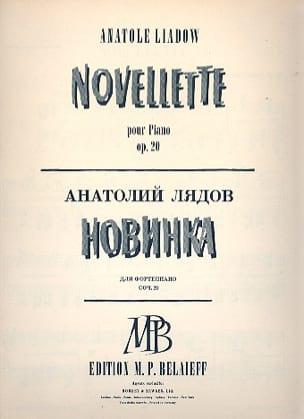 Anatoly Liadov - Novellette Op. 20 - Partition - di-arezzo.com