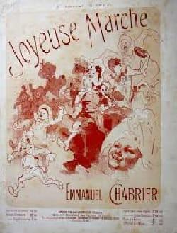 Joyeuse Marche. 4 Mains CHABRIER Partition Piano - laflutedepan