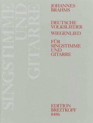 Deutsche Volkslieder Woo 33 et Op. 49-4 BRAHMS Partition laflutedepan