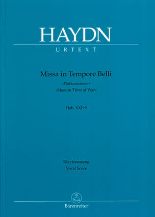 Missa In Tempore Belli Pauken-Messe HAYDN Partition laflutedepan