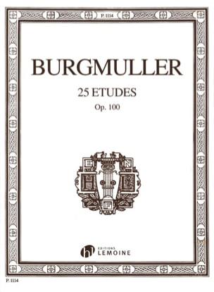 25 Etudes Opus 100 Frédéric Burgmuller Partition Piano - laflutedepan