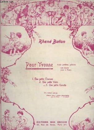 Petite chanson Rhené-Bâton Partition Piano - laflutedepan