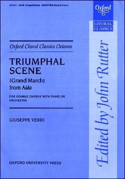 Triumphal Scene From Aida VERDI Partition Chœur - laflutedepan
