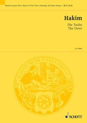 Die Taube. Conducteur Naji Hakim Partition laflutedepan