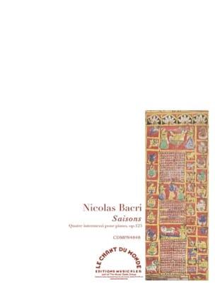 Saisons op. 123 Nicolas Bacri Partition Piano - laflutedepan