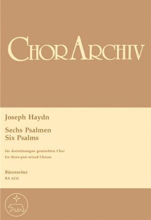 6 Psalmen HAYDN Partition Chœur - laflutedepan