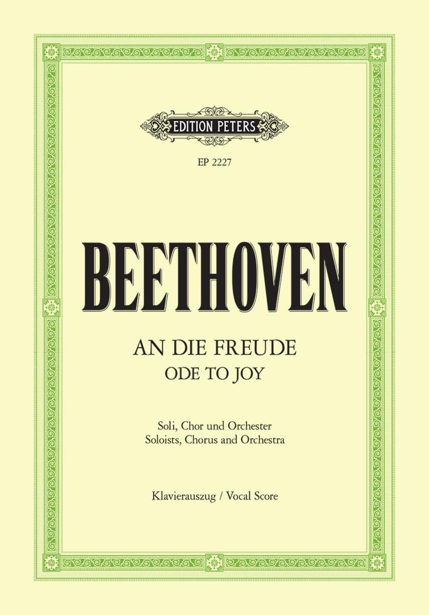 An die Freude - BEETHOVEN - Partition - Chœur - laflutedepan.com