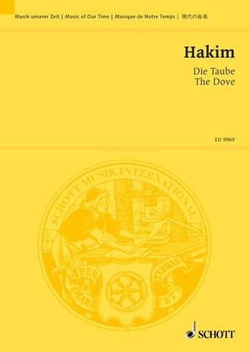 Die Taube. Conducteur - Naji Hakim - Partition - laflutedepan.com
