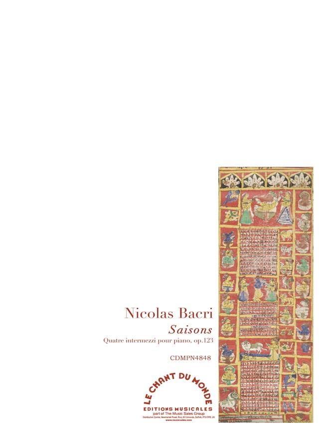 Saisons op. 123 - Nicolas Bacri - Partition - Piano - laflutedepan.com