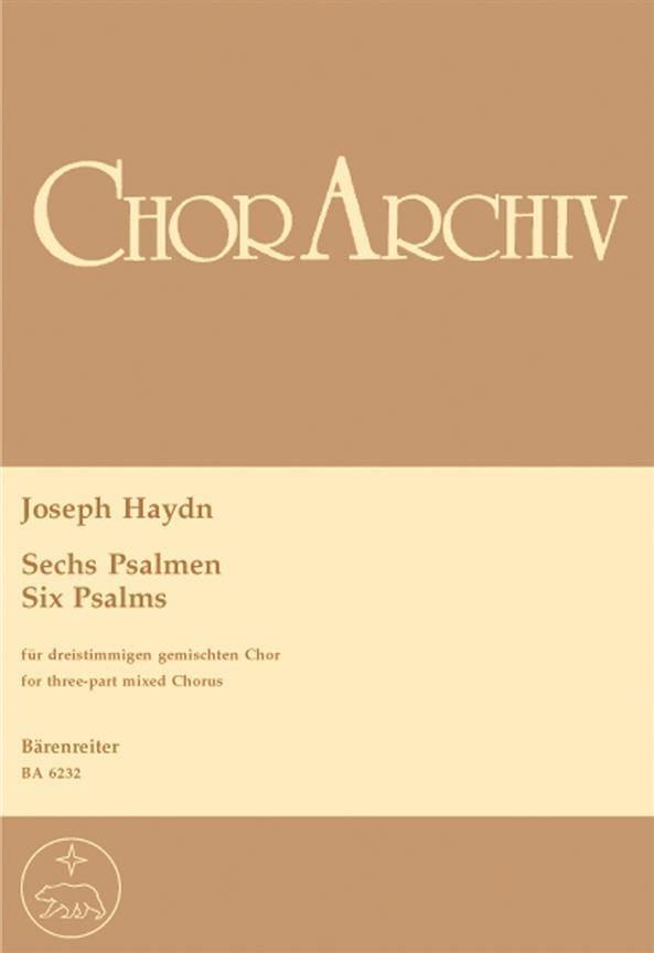 6 Psalmen - HAYDN - Partition - Chœur - laflutedepan.com