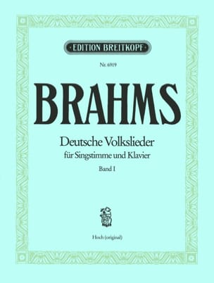 BRAHMS - Deutsche Volkslieder, High Voice, Volume I - Partition - di-arezzo.co.uk