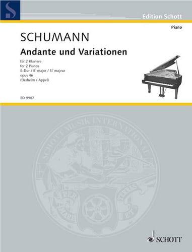 Andante et Variationen Opus 46. 2 Pianos - SCHUMANN - laflutedepan.com