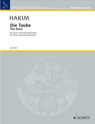 Die Taube Naji Hakim Partition laflutedepan