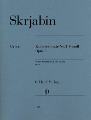 Sonate pour piano en fa mineur n° 1 op. 6 SCRIABINE laflutedepan