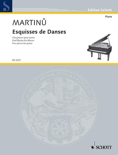 Esquisses de Danses - MARTINU - Partition - Piano - laflutedepan.com