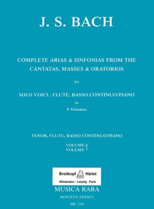 Complete arias and sinfonias from the cantatas, masses, oratorios Volume 6 laflutedepan