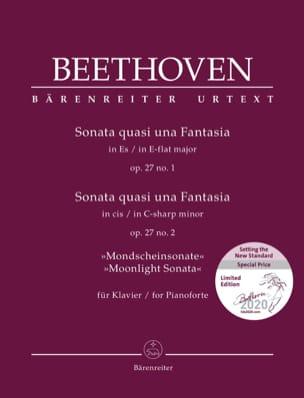 Sonates Pour Piano n° 13 et 14 Opus 27 BEETHOVEN laflutedepan