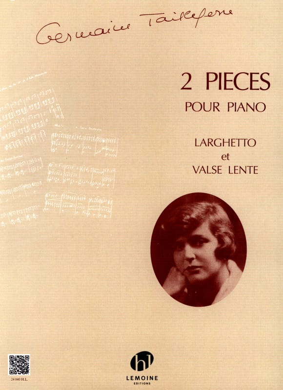 2 Pièces - Germaine Tailleferre - Partition - Piano - laflutedepan.com