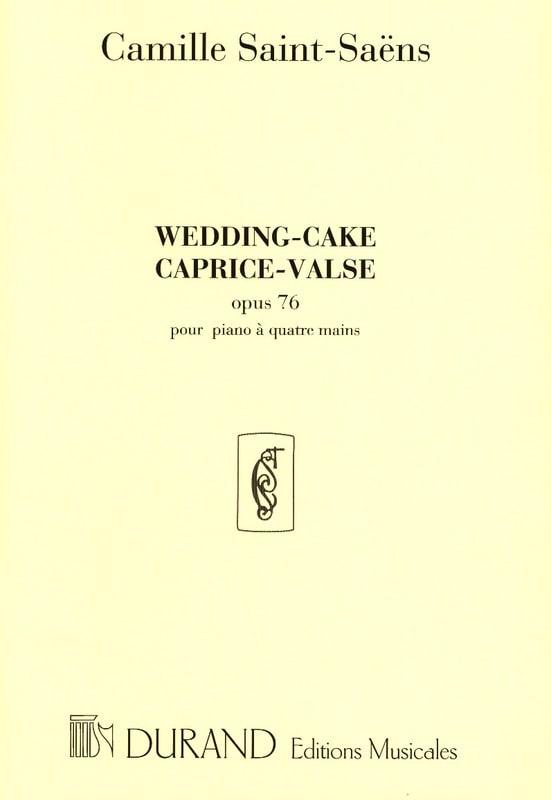 Wedding-Cake op. 76. 4 Mains - SAINT-SAËNS - laflutedepan.com