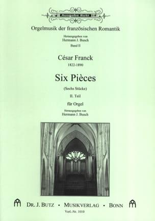 6 Pièces. Volume 2 FRANCK Partition Orgue - laflutedepan