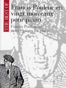 20 Morceaux Pour Piano POULENC Partition Piano - laflutedepan
