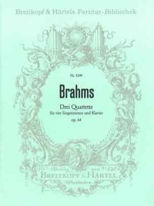 3 Quartette Opus 64 BRAHMS Partition Chœur - laflutedepan