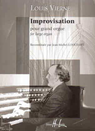 Improvisation - VIERNE - Partition - Orgue - laflutedepan.com