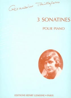 3 Sonatines Germaine Tailleferre Partition Piano - laflutedepan