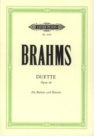 4 Duette Opus 28 BRAHMS Partition Duos - laflutedepan