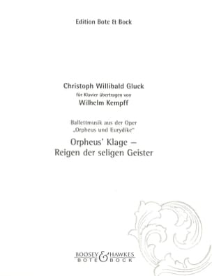 Ballettmusik Aus : Orpheus Und Eurydike GLUCK Partition laflutedepan