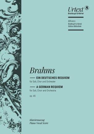 BRAHMS - アインDeutsches Requiem Opus 45 - Partition - di-arezzo.jp