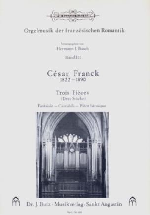 3 Pièces - FRANCK - Partition - Orgue - laflutedepan.com
