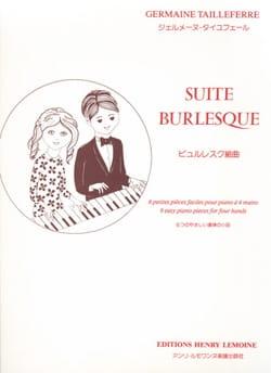 Suite Burlesque. 4 Mains Germaine Tailleferre Partition laflutedepan
