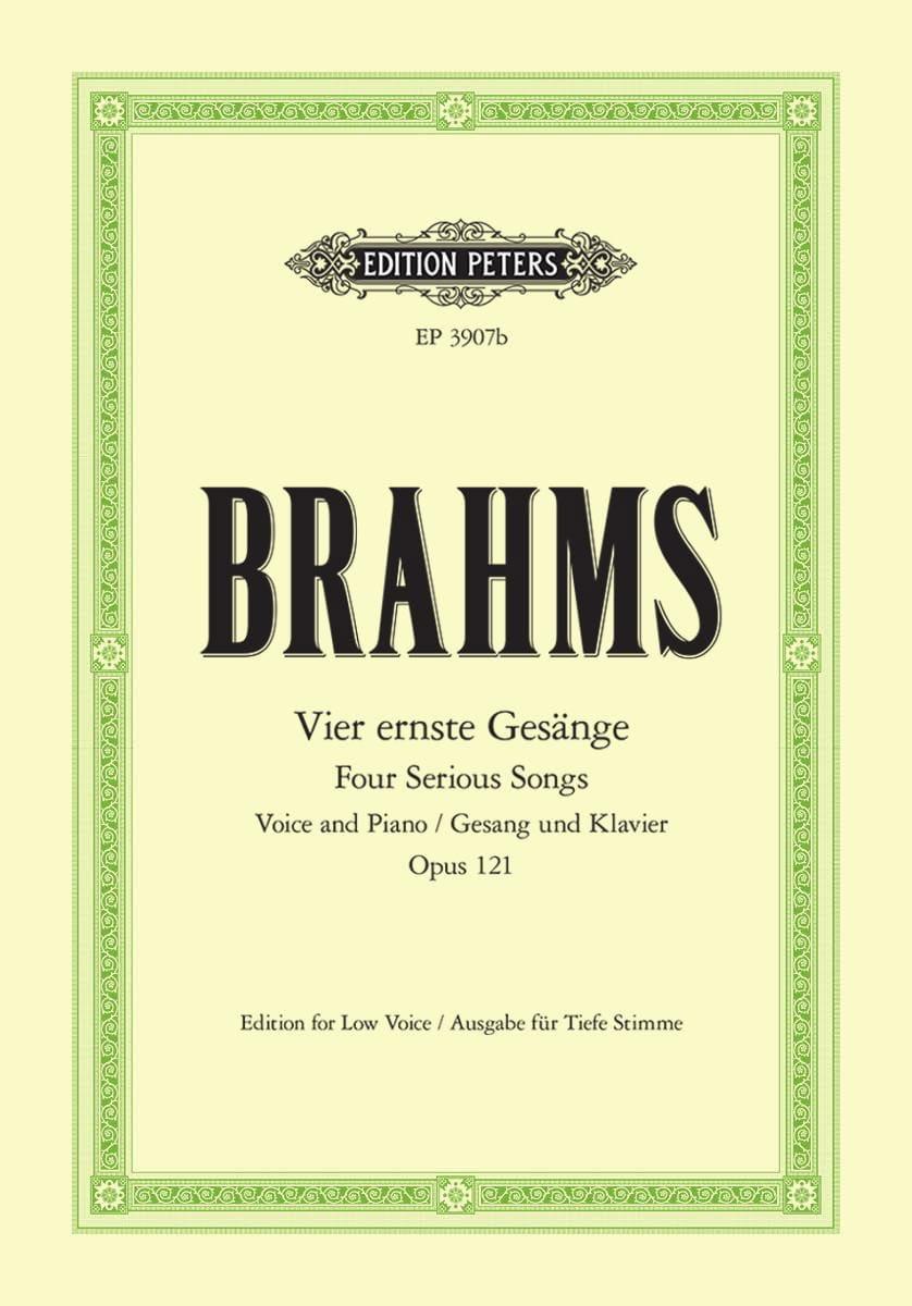 4 Ernste Gesänge Opus 121. Voix Grave - BRAHMS - laflutedepan.com