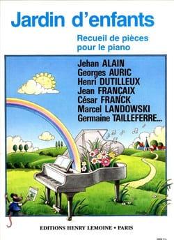 Jardin d'enfants Partition Piano - laflutedepan