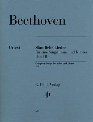 Sämtliche lieder. Volume 2 BEETHOVEN Partition Mélodies - laflutedepan